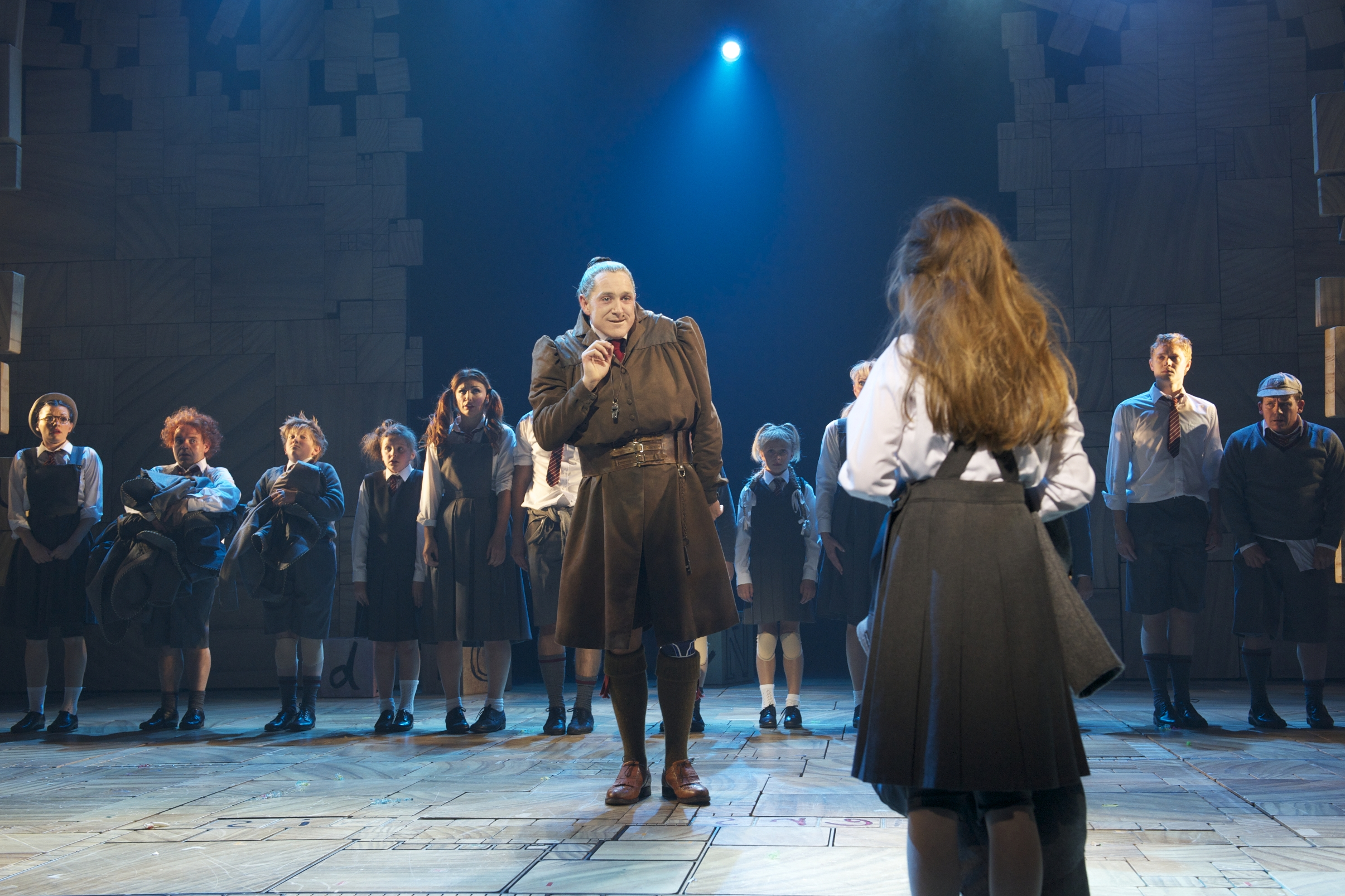 Bertie Carvel as Miss Trunchbull in the RSC Production of Roald Dahl's Matilda The Musical. Photo by Manuel Harlan. 11.2-0500