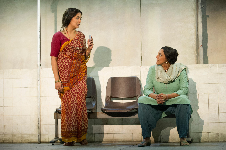 Stephanie Street - Asha Waghekar, Meera Syal - Zehrunisa Husain Behind the Beautiful Forevers image by Richard Hubert Smith2