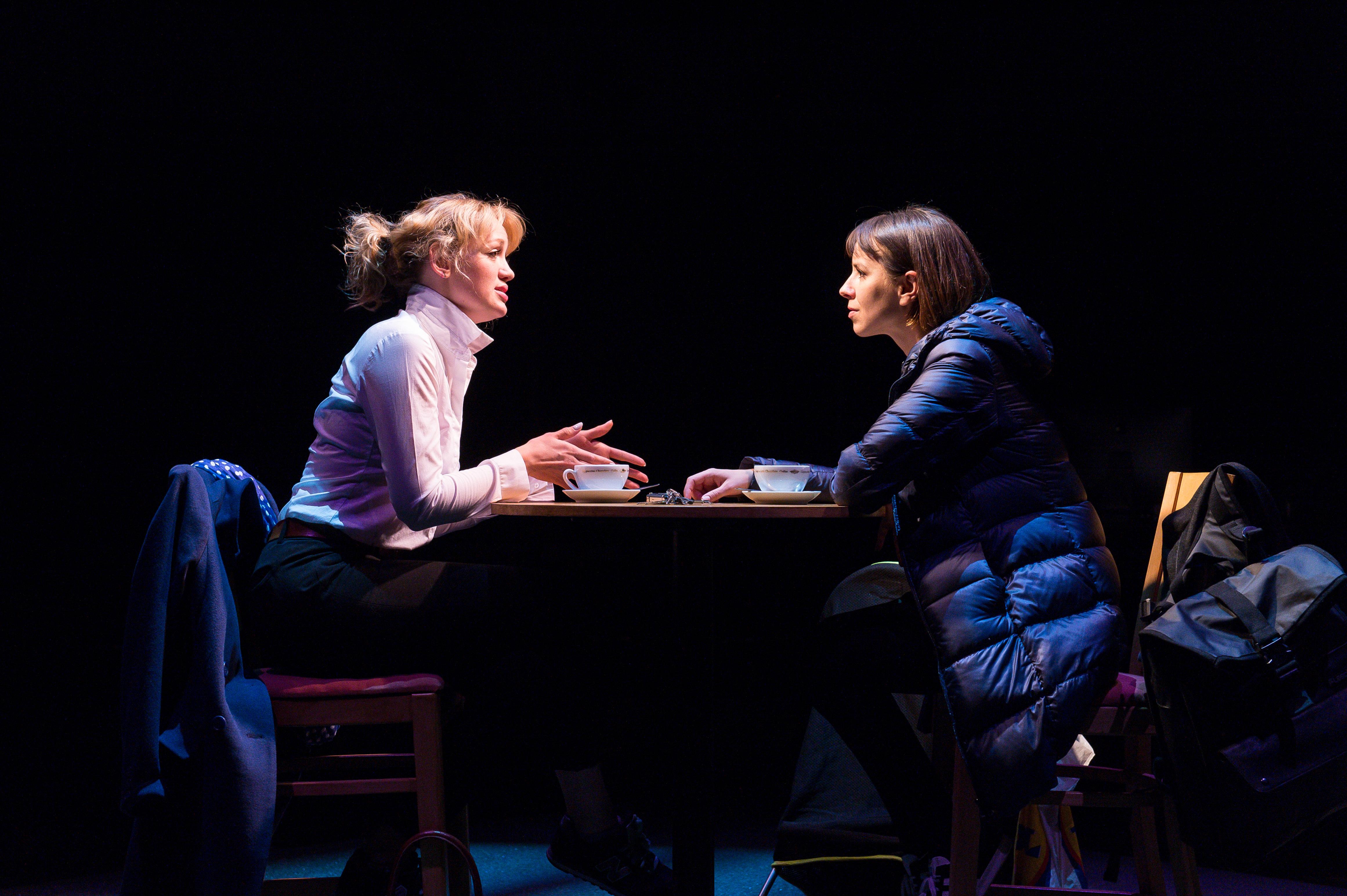 Lucy Briggs-Owen (Hettie) and Natalie Klamar (Suzy) in Future Conditional. Photo credit Manuel Harlan