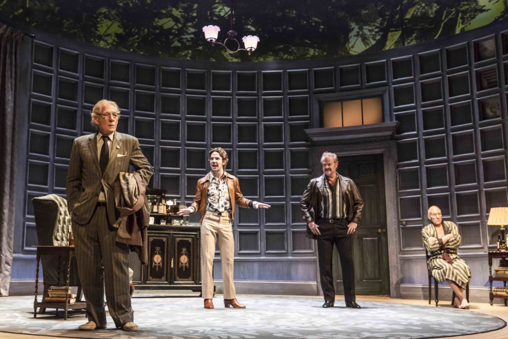 Ian McKellen and Patrick Stewart joined by Damien Molony and Owen Teale