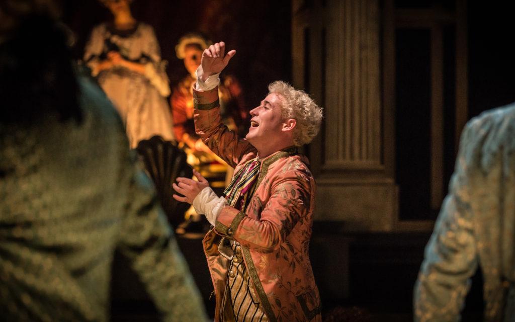 Adam Gillen as Wolfgang Amadeus Mozart