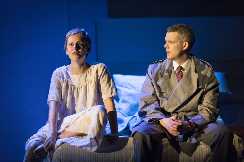 Denise Gough (Harper) and Russell Tovey (Joseph)