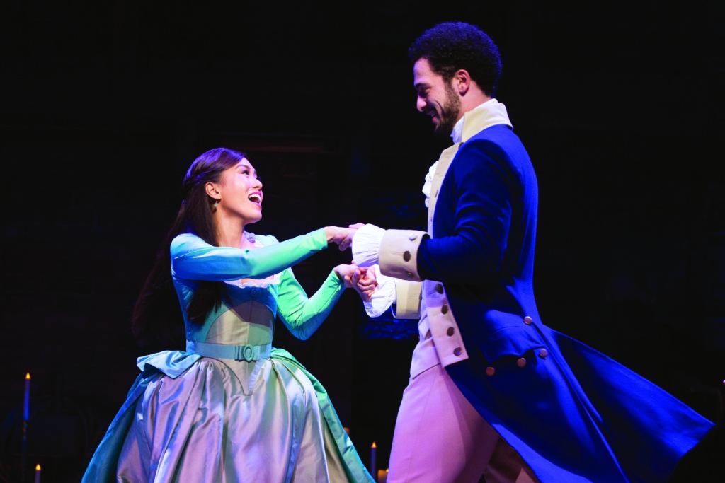 """Rachelle Ann Go and Jamael Westman in the London production of """"Hamilton"""""""