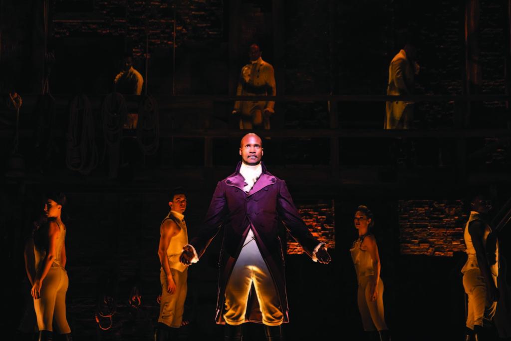 "Sifiso Mazibuko as Aaron Burr in ""Hamilton"""