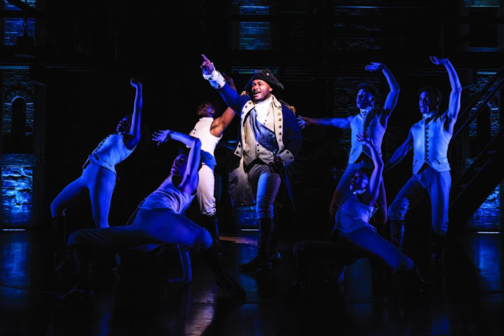 Dom Hartley-Harris as George Washington