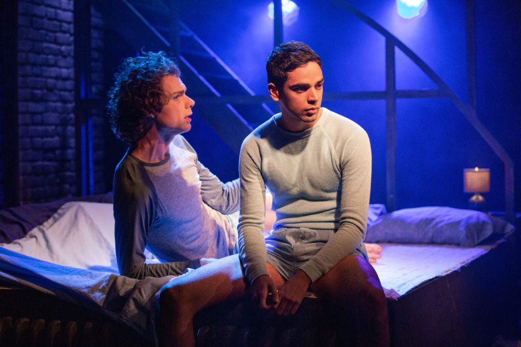 Matthew Needham & Rish Shah in Torch Song at the Turbine Theatre