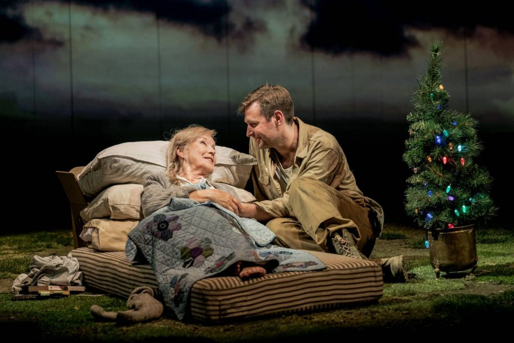 "Ann Louise Ross and James McArdle in ""Peter Gynt"" at the National Theatre"