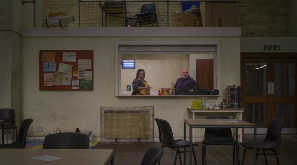 Cecilia Noble and Nick Holder in 'Faith, Hope and Charity' at the National Theatre