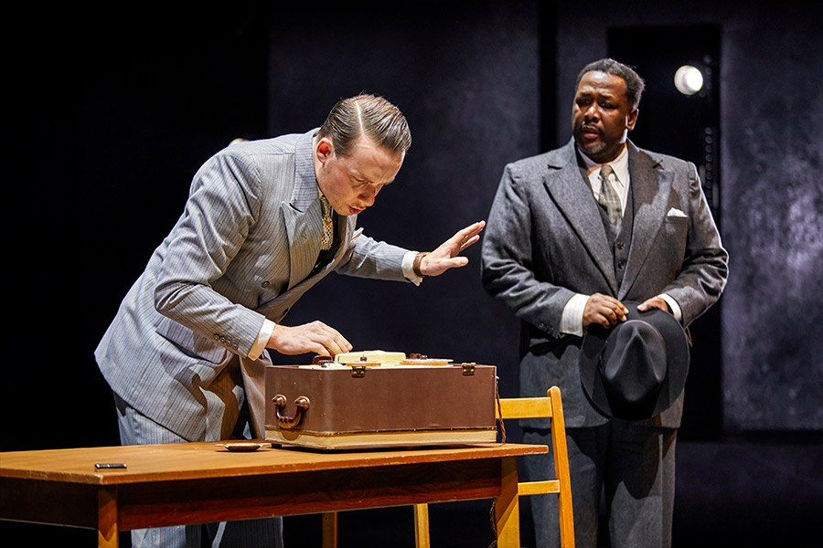 Matthew Seadon-Young and Wendell Pierce in 'Death of a Salesman'