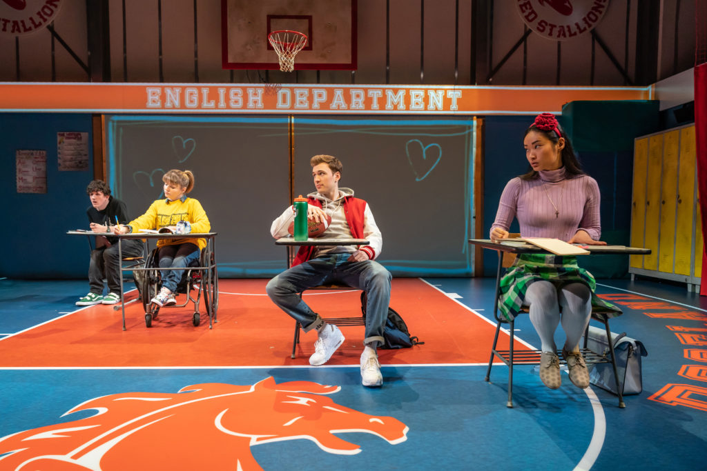 Daniel Monks, Ruth Madeley, Callum Adams and Alice Hewkin in 'Teenage Dick' at the Donmar Warehouse