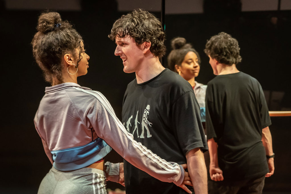 Siena Kelly and Daniel Monks in 'Teenage Dick' at the Donmar Warehouse
