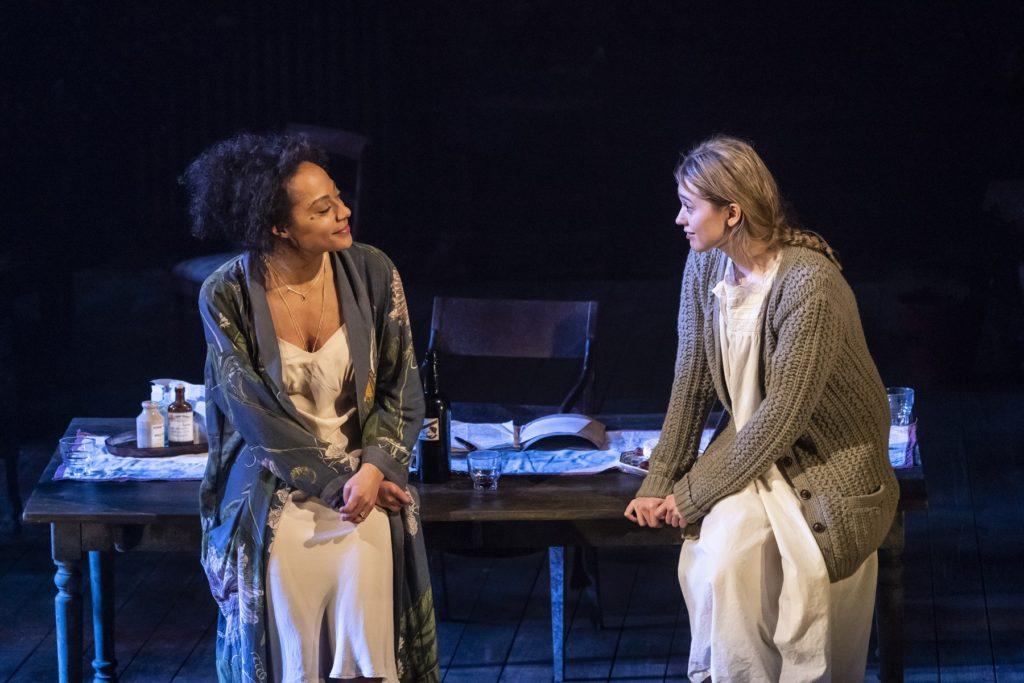 Rosalind Eleazar and Aimee Lou Wood in Uncle Vanya at the Harold Pinter Theatre