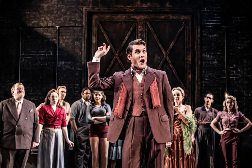 Samuel Holmes in 'Curtain' at Wyndhams Theatre