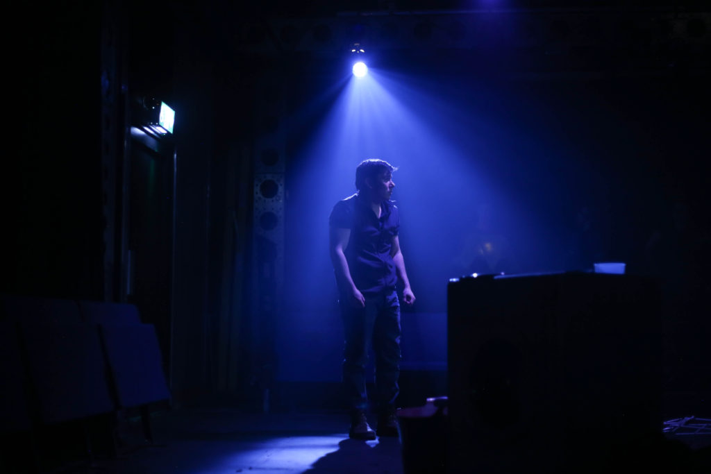 Mikey Anthony-Howe in 'Fix' at the Pleasance Theatre