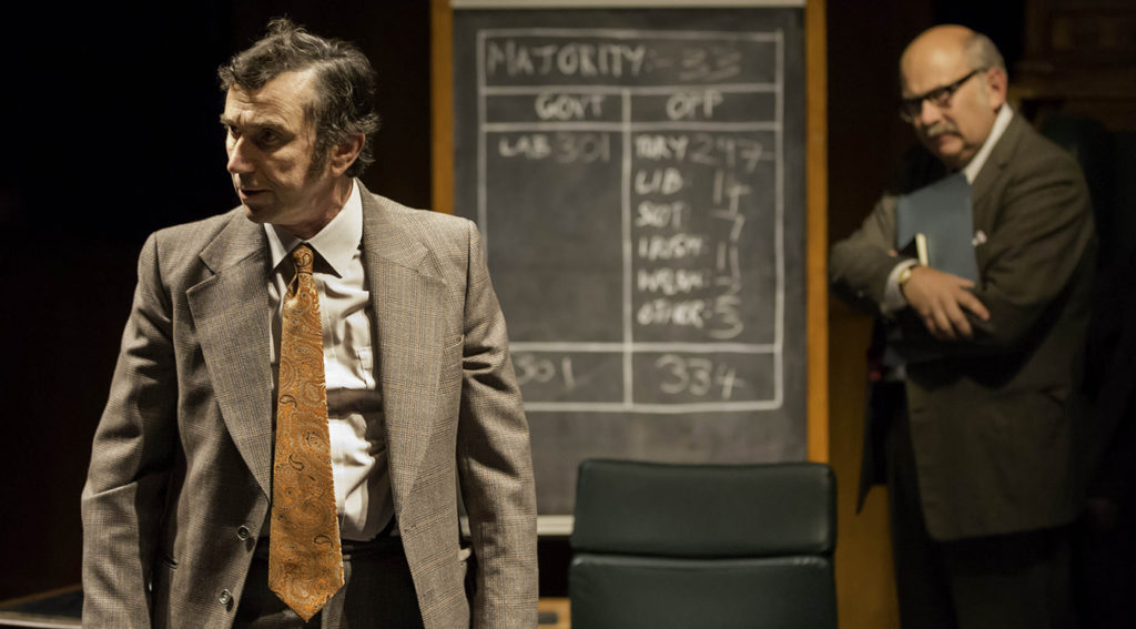 Phil Daniels and Vincent Franklin in 'The House' at the National Theatre credit Johan Persson
